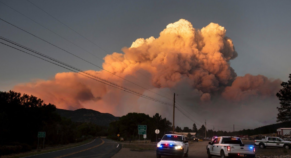 Wildfires won't lie down until Tuesday: Winds Fanning