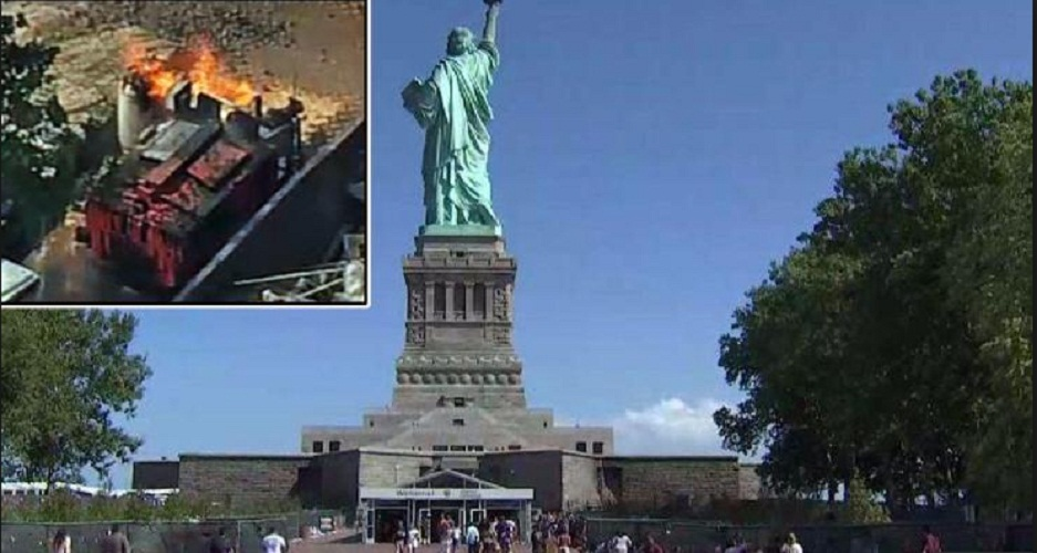 Fire broke out in the island of Statue of Liberty in United States | tnbclive.com