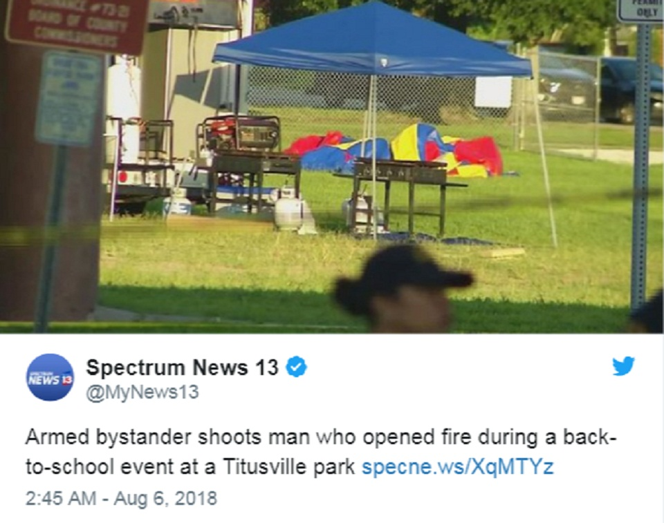 Florida witness shoots a gunman, who opened fire at the festival | US.tnbclive.com