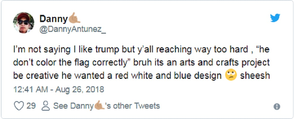 Twitter Trolls US President Trump for incorrectly coloring the American Flag | US.tnbclive.com