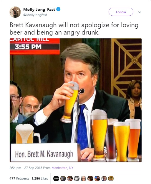 "United States Supreme Court's ""Beer Obsession"" Testimony Torn Apart Tweets 