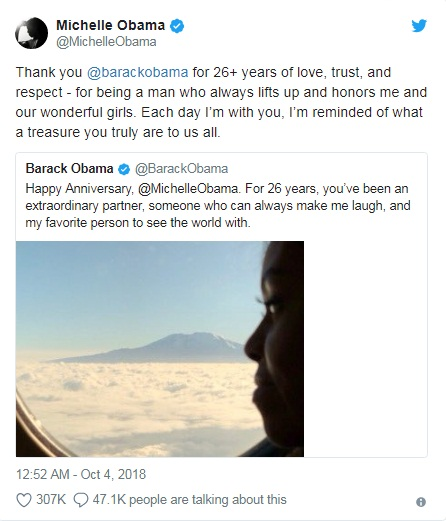 Barack Obama with love for Michelle, Tweets on Wedding Anniversary | US.tnbclive.com