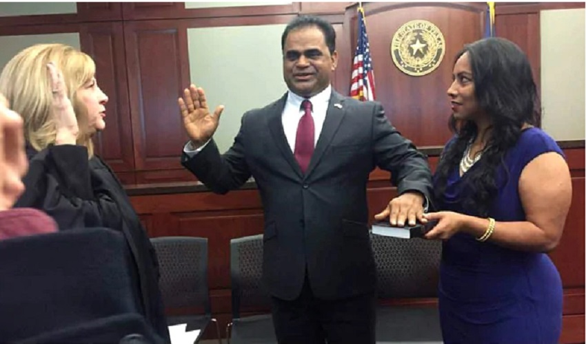 In Texas Indo-American Individual Took Oath As Judge of Fort Bend County