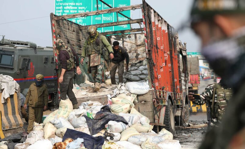 A major Terrorist attack thawed at Nagrota area of Jammu district.