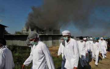 Fire broke at SII, vaccine is safe, no casualties reported.