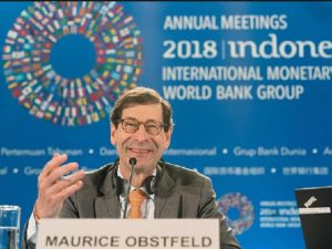 "IMF Chief Economist Maurice Obstfeld praises Modi Government for ""Very Solid"" growth and GST"